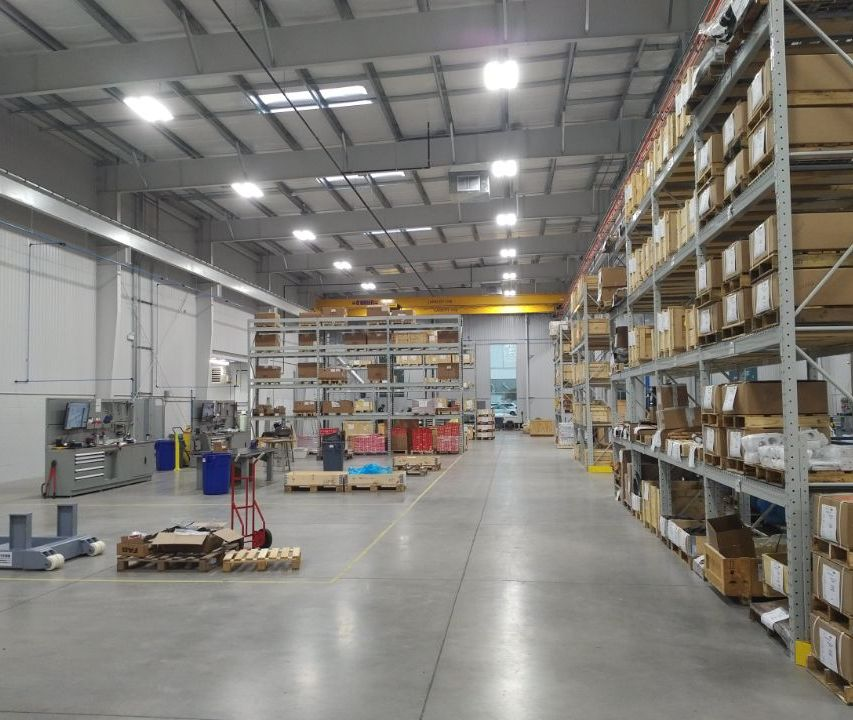 Interior view of a warehouse